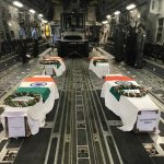 Indian Air force performing last rites of all the air warriors of Mi-17 Helicopter