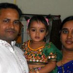 Mech (R) II Dasari prasad with his wife and daughter