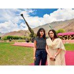 Diksha and Neha Dwivedi, daughters of Major C.B. Dwivedi,