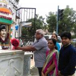 Family Paying tribute at the memorial of Capt Soni