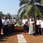 Family members and locals at the memorial of Sep Anil Kumar Kadam
