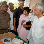Father salutes his son Lt Col Manish Shashikant Kadam