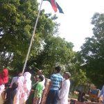Flag hosting on 71st independnece near the memorial of Lt.Akash yadav