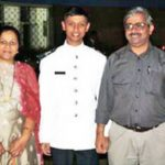 Flt Lt Kunal Barpatte with his parents