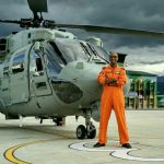 Flt Lt Pramod Kumar Singh with his machine