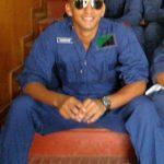 Flt Lt Shikhar Kulshreshtha during his training days