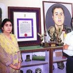 Captain Vikram Batra's parents with his memorabilia