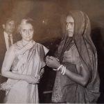 Gnr Gorakh Ram's wife receiving the Vir Chakra award from Prime Minister Mrs Indira Gandhi