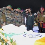 Last Respect from officers to Gurmail Singh