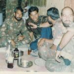 Maj Udai with his comrades