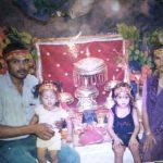Hav Rambaboo Singh Chaudhary with his wife and kids