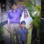Hav Rambaboo Singh Chaudhary with his wife and son