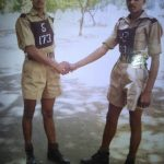 Hav Rambaboo Singh Chaudhary with his coursemate