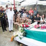 Hon'ble Meghalaya Governor & army officials pay homage to Maj David
