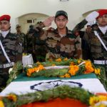 Soldiers paying tributes to Hony Lt Madan Lal Choudhary