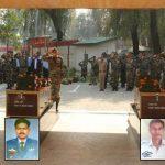 IAF Garud commando martyrs Sgt Milind Kishore & Cpl Nilesh Kumar being paid last tributes in Srinagar