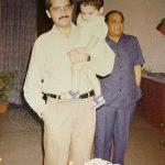 Maj Samir with his son Yusuf