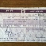 Sep Harbhajan Singh's railway ticket