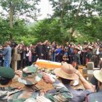 Indian Army's last salute to Major David Manlun