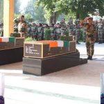 Indian Army paid befitting tributes to Sepoy Babaloo Singh and Sepoy Vishal Chaudhary.