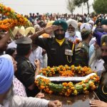 Indian Army soldiers pay their last respects to Nb Sub Paramjit Singh