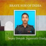 Sepoy Deepak Jagannath Ghadge who attained martyrdom in the line of duty on LC in ...