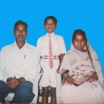 A young Kewal Singh wiht his family