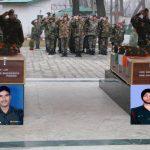 Army's last salute to Lance Naik Marigendra Nath Pramanik and Sepoy Shiv Singh