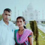 Lance Naik Goswami with his wife Bhawana