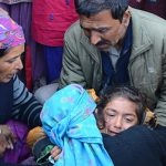 Family members of Martyr Lance Naik Om Prakash being consoled
