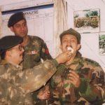 Capt Sharma celebrating his last birthday