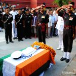 Army and Navy personnel pay their respects to SEA I Atul Sharma