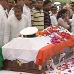Relatives and friends pay their last respects to Lt Kiran Shekhawat