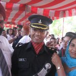 Lt Navdeep Singh with his parents on his passing out day