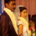 Liju Lawrence with his wife Anusha