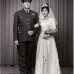 Wedding Photograph of Flt Lt Moses Sassoon and Sybia Robert Jacob