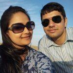Lt Kiran Shekhawat with her husband Lt Cdr Vivek Singh Chhoker