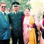 Lt Triveni Singh with his parents and sister