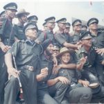 Lt. Amit Singh with his army colleauges