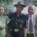 Lt. Amit Singh with his parents