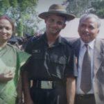 Lt. Amit Singh with his parents