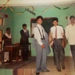 Lt. Amit Singh with his schoolmates