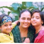 Maj CB Dwavedi's wife Bhawana and daughters in younger days
