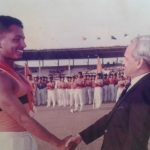 Maj Avinash Bhadauria at a sports meet during his NDA days