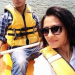 Major Arvind Bazala enjoying life with his wife Ahana