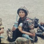 Major Avinash Singh Bhadauria's wife Capt Shalini during her training at OTA