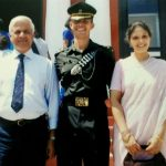 Major Dhruv Yadav with his parents