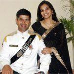 Major Dhruv Yadav with his wife Surbhi