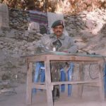 Major Ghori at his last post in 2001.