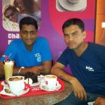 Major Gosavi Kunal Mannadir with his friend